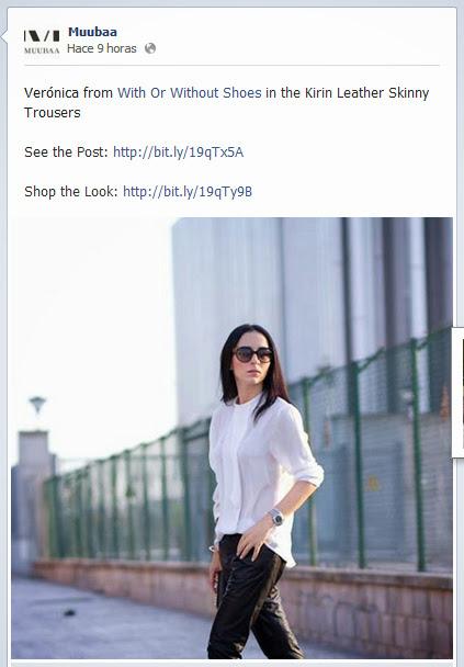 MUUBAA vuelve a contar con WITHORWITHOUTSHOES como imagen de su página de Facebook