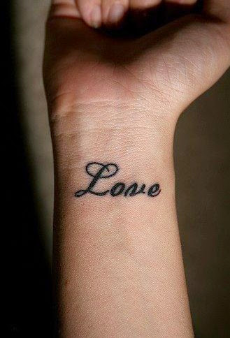 love wrist tattoo ideas for men