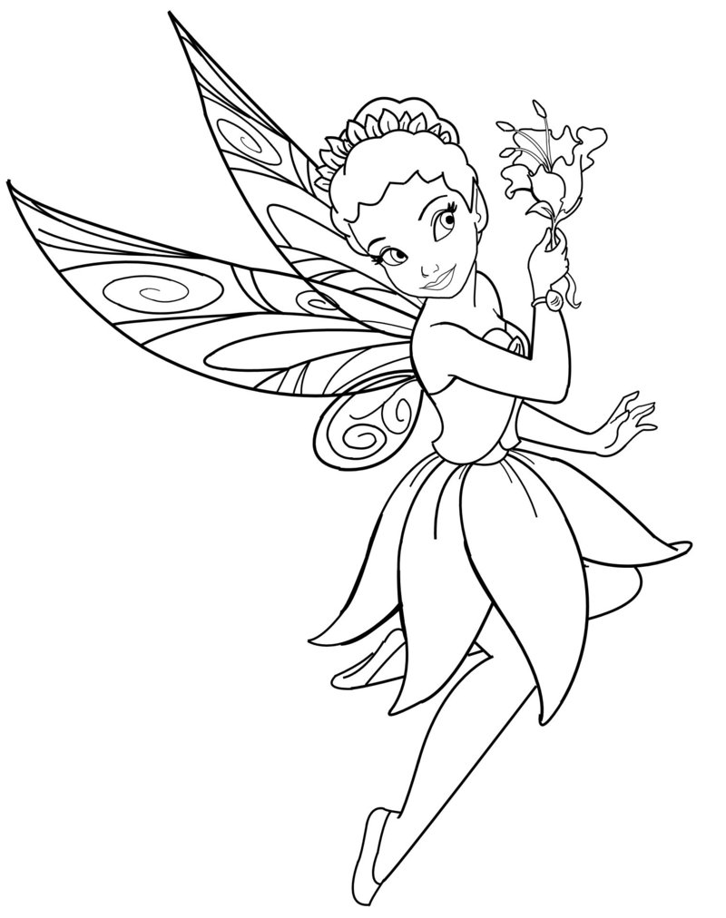 Free Printable Fairy Coloring Pages For Kids   1012x800