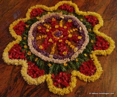 Onam Rangoli Flower Designs Chittara Rangoli Pattern ...