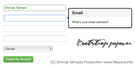 Bootstrap Tutorial for Registration Form.