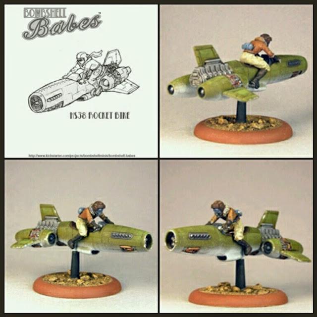 Motojet Bombshell- Miniatures