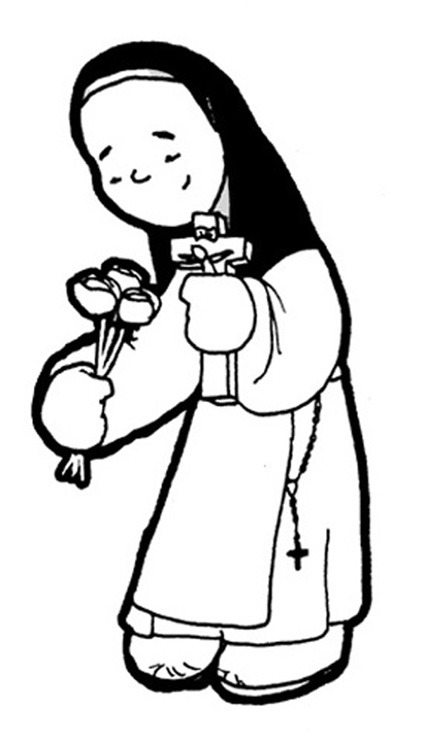 Saint Teresa coloring pages