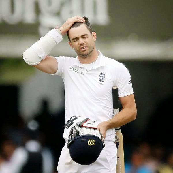 England's James Anderson leaves the field of play after being run out by India's Ravindra Jadeja to win the test match on the fifth day of the second cricket test match between England and India at Lord's cricket ground in London, Monday, July 21, 2014.