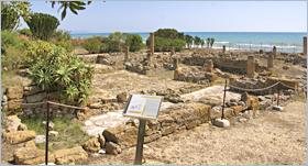 Sizilien - Agrigento - Die Ausgrabungsstätte der Villa Romana di Durrueli.