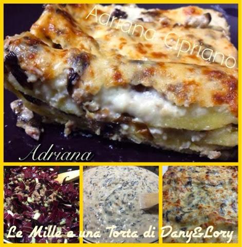 lasagne con radicchio rosso e salsicce