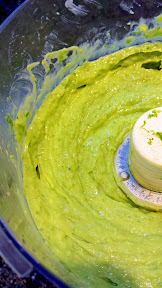 Recipe of Green Mac and Cheese for St Patricks: Avocado Mac and Cheese, avocado, jalapeno, green onion, lime