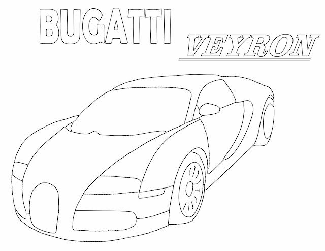 coloring pages of bugatti veyron   Bugatti Veyron Coloring Page