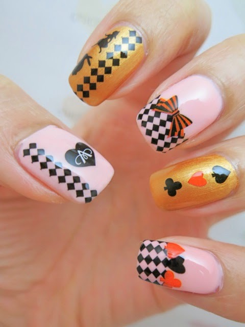 Alice in Wonderland Water Decal Nail Art