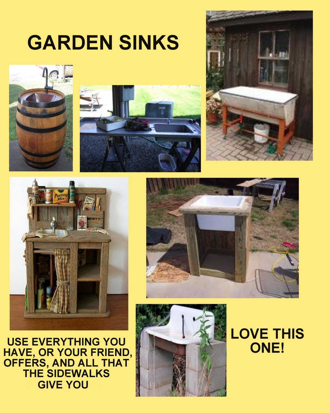 Greene Meadows Farm Blog GARDEN SINKS