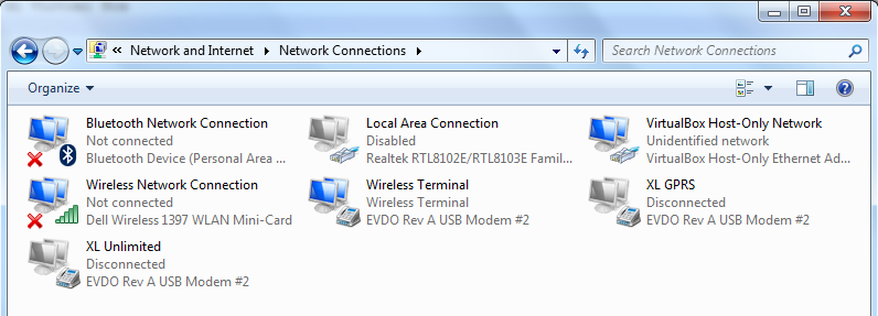 networks connections virtualbox windows