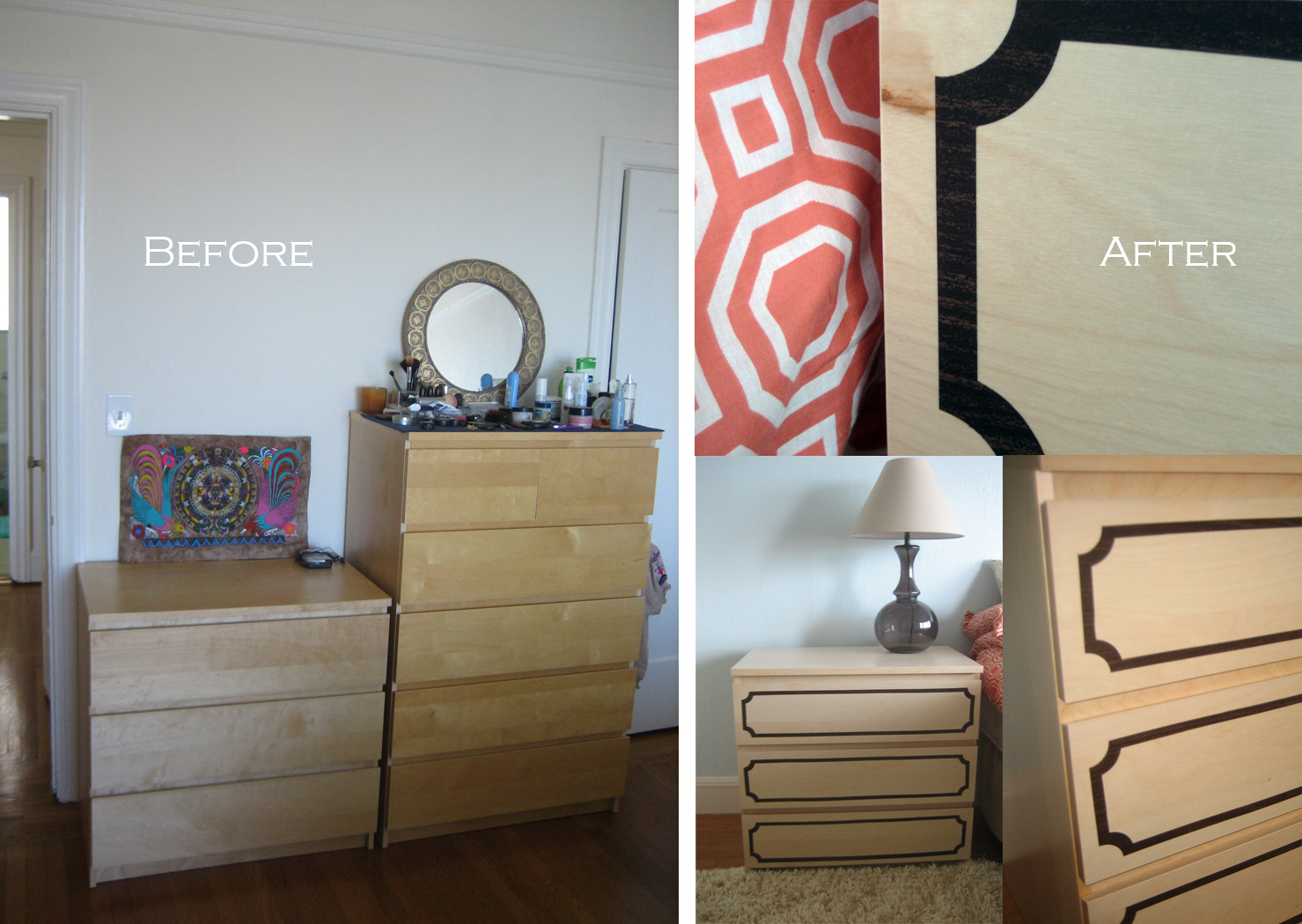 decorating with dinosaurs ikea malm dresser hack. Black Bedroom Furniture Sets. Home Design Ideas
