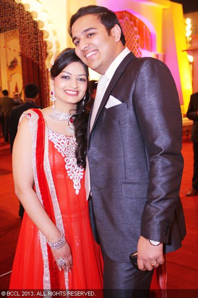 Ankita And Ankur During The Marriage Of Khushboo Agarwal With Ankit