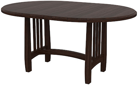 Sonora Round Conference Table in Stormy Walnut