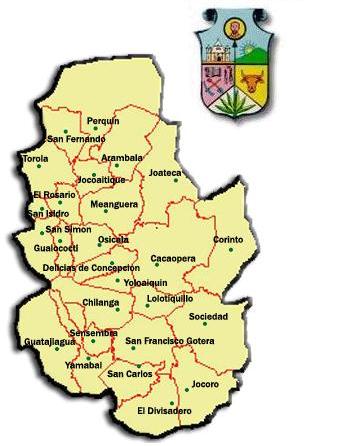 Departamento De Moraz N Municipios De El Salvador