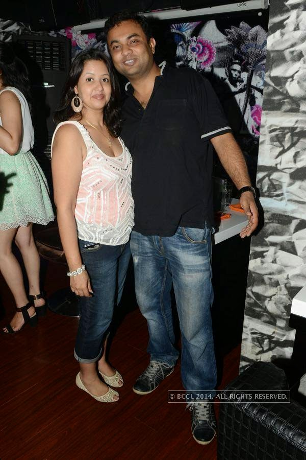 Kopal and Vinit during a party at Illusions, in Chennai.