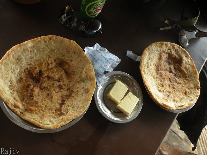 Aaloo parathas at Amritsar
