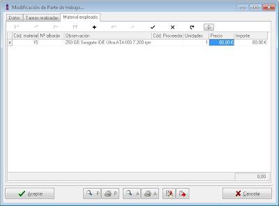 Partes de trabajo - AjpdSoft Gestión Integral