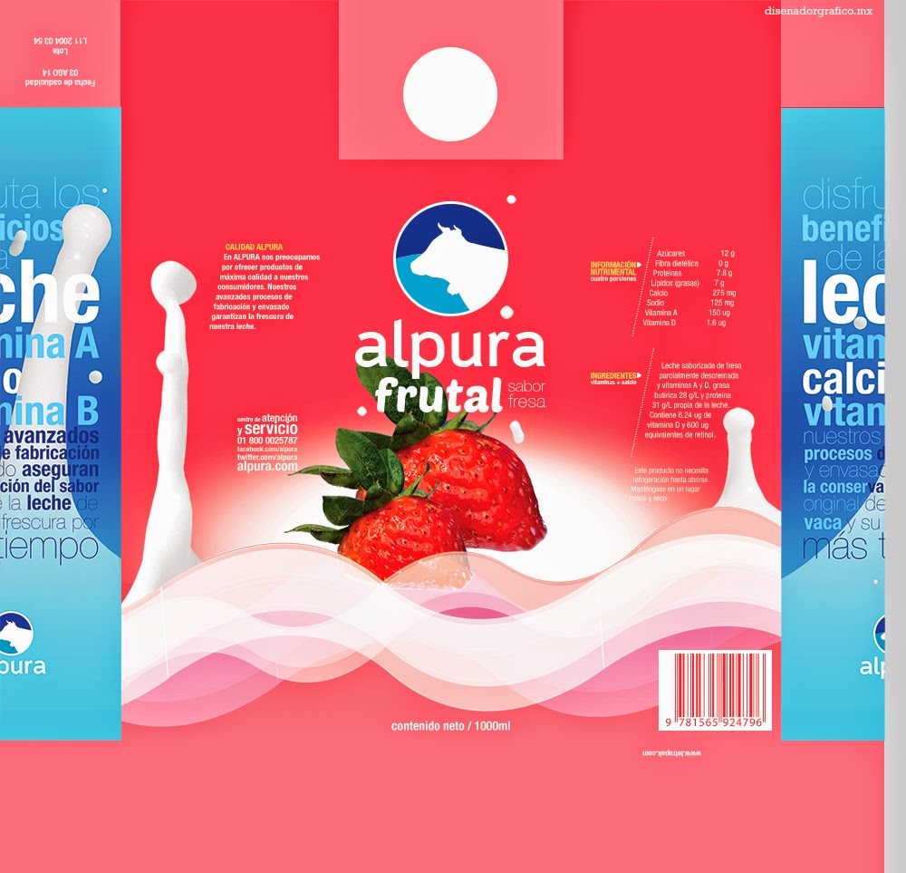 Rediseño de envase de Alpura Frutal