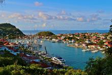 Les Voiles St Barths sailing regatta fleet anchorage