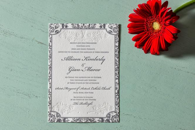 wedding invitations: Allison + Marco