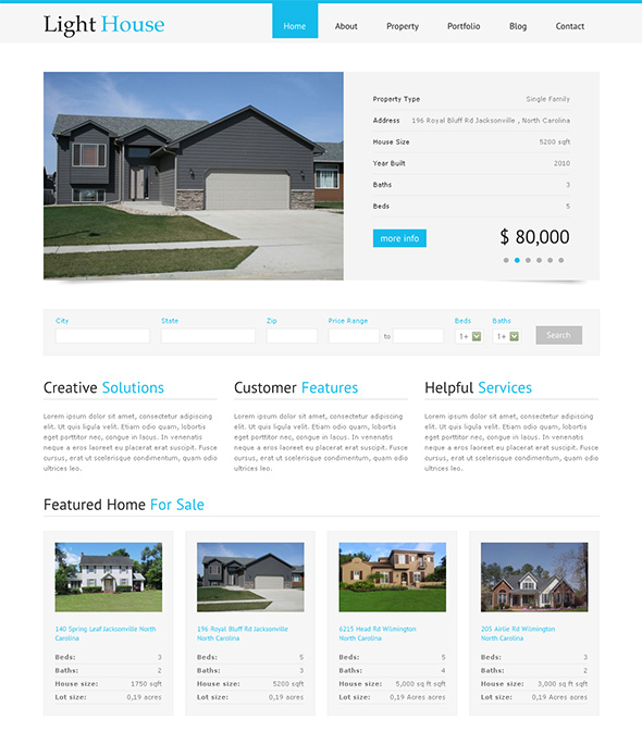 Lighthouse WordPress Real Estate Theme