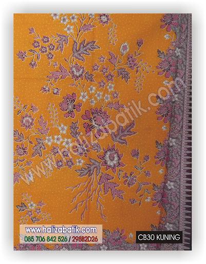 Batik Modern, Gambar Batik, Batik Pekalongan, CB30 KUNING