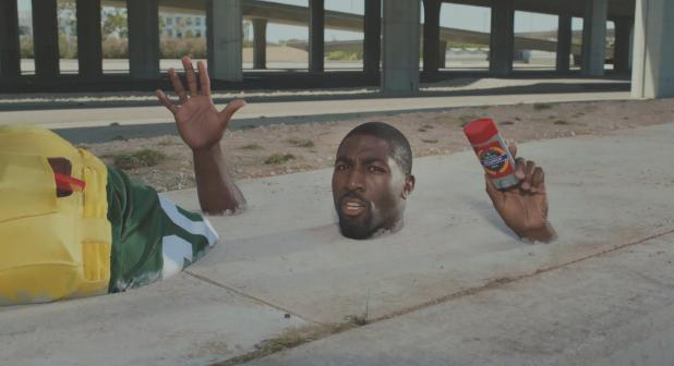Greg Jennings Get Stuck In Cement For Old Spice Ad