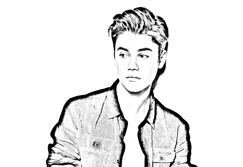 Justin Bieber coloring pages, printable pages title=