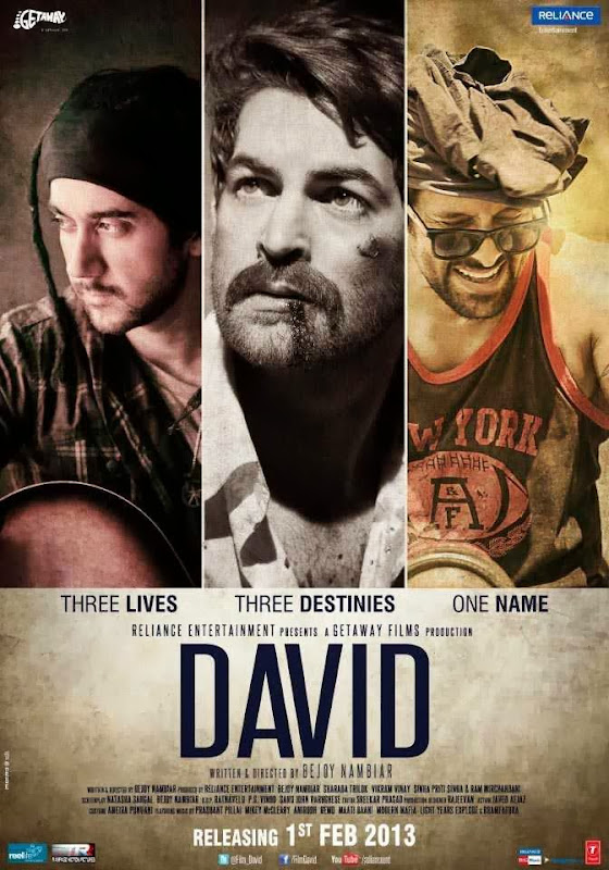 Cover of David (2013) Full Hindi Movie Video Songs Free Download Watch Online at Alldownloads4u.Com
