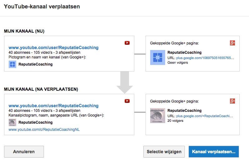 Eigenaarschap YouTube-kanaal overdragen