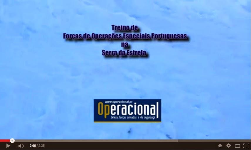 Vídeo - Treino de Forças de Operações Especiais - Serra da Estrela