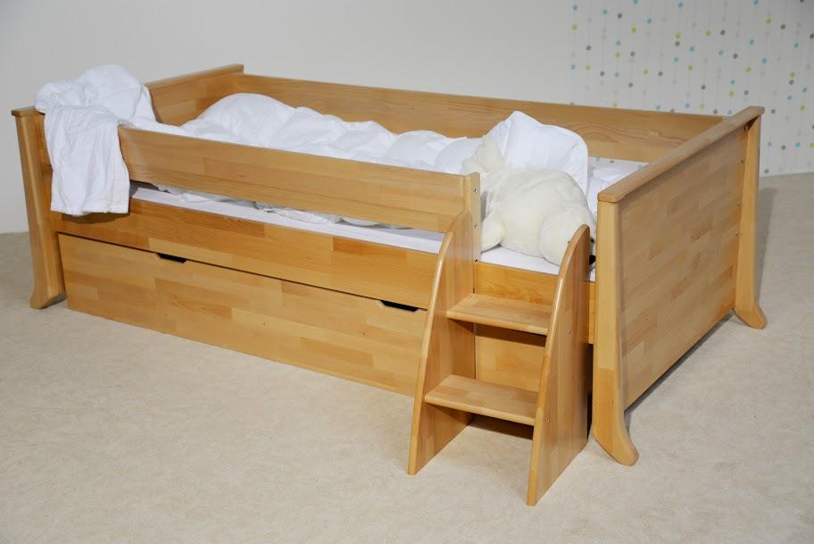 taube kinderzimmer willi mini hochbett 70 x 140 birke. Black Bedroom Furniture Sets. Home Design Ideas