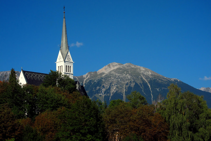 church and mountain