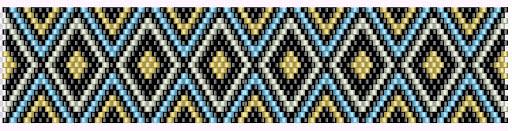 браслет мозаичное плетение схема