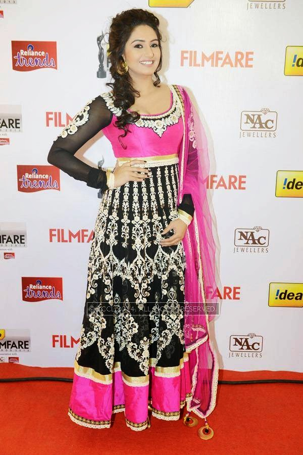 Ragini Dwivedi during the 61st Idea Filmfare Awards South, held at Jawaharlal Nehru Stadium in Chennai, on July 12, 2014.