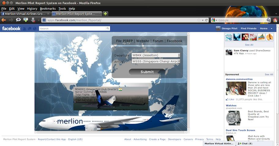 Merlion Facebook Portal Application! 2011-12-20_18-22-20