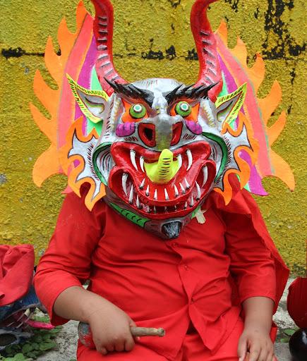 Diablo de Yare gordito en el día de Corpus Christi en San Francisco de Yare Municipio Bolivar Miranda Venezuela