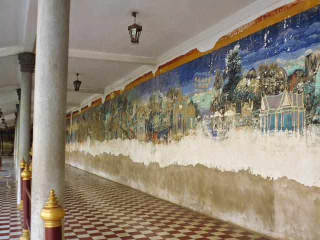 фреска в храме королевского дворца. Пномпень