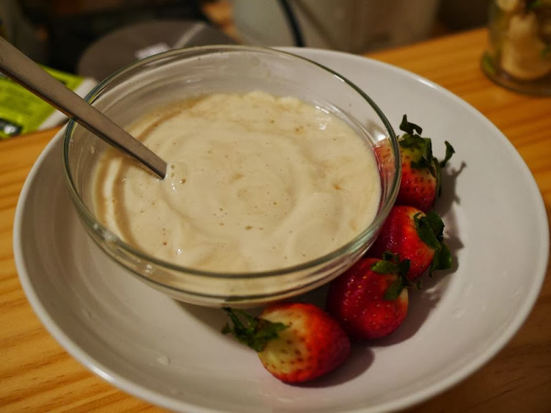 Lavender Tofucotta with Strawberry Sauce