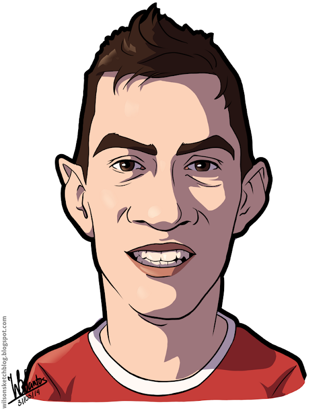 Cartoon caricature of Nicolás Gaitán.
