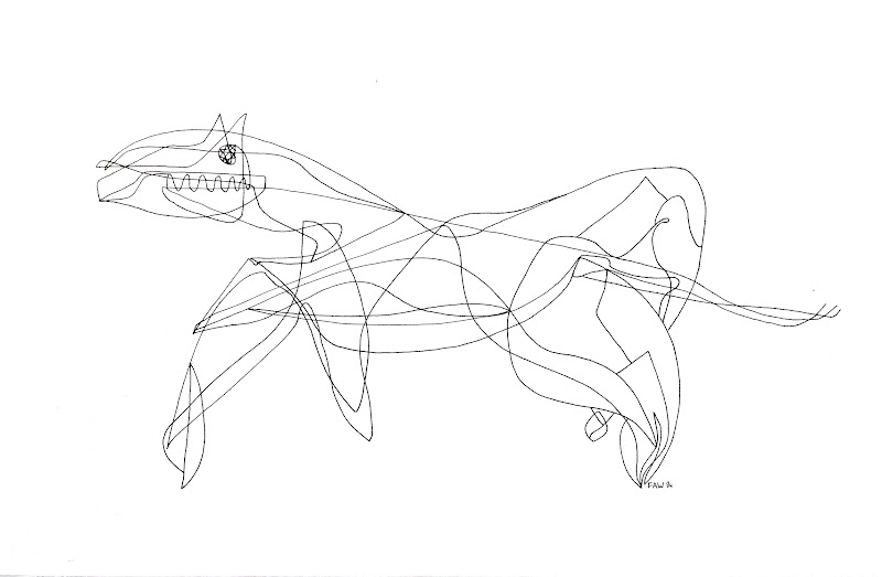 horse (drawing by frank waaldijk)