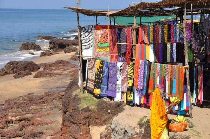 Clothes Market in Anjuna Beach, Goa, India