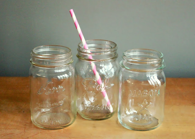 Pint-sized mason jars mason jars available for rent from www.momentarilyyours.com, $0.75 each.