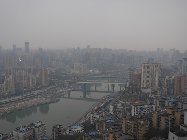 view from the Kansheng Building at Eling Park in Chongqing