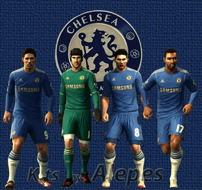 Chelsea Home 12-13 Kits - PES 2012