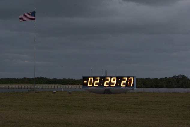 Launch Day - the countdown clock