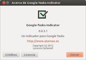 Google Tasks Indicator 0.0.3.1 o eligiendo tu lista de tareas