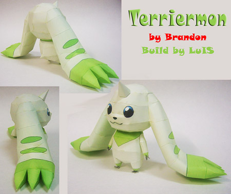 Lopmon Terriermon Papercraft