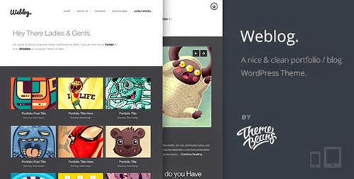 Weblog | A Creative's Portfolio & Blog Theme